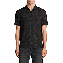 Buy AllSaints Argo Short Sleeve Shirt, Jet Black Online at johnlewis.com