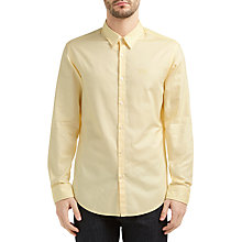 Buy BOSS Green C-Buster Fil a Fil Cotton Regular Fit Shirt, Bright Yellow Online at johnlewis.com