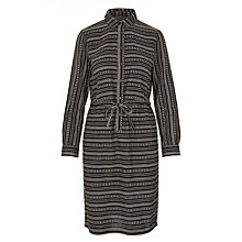 Buy People Tree Calla Shirt Dress, Black/White Online at johnlewis.com
