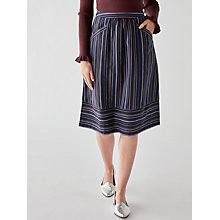 Buy People Tree Andrea Stripe Skirt, Multi Online at johnlewis.com