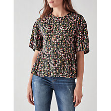 Buy People Tree V&A Tulip Print Frill Top, Multi Online at johnlewis.com