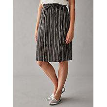 Buy People Tree Gia Skirt, Black/White Online at johnlewis.com
