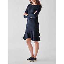 Buy People Tree Kaya Frill Dress, Navy/Black Online at johnlewis.com