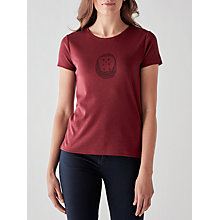 Buy People Tree Hedgehog T-Shirt, Wine Online at johnlewis.com