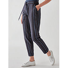 Buy People Tree Georgina Stripe Trousers, Navy Multi Online at johnlewis.com