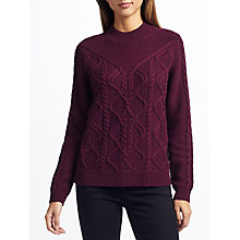 Buy Collection WEEKEND by John Lewis Roll Neck Cable Jumper Online at johnlewis.com