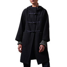 Buy Toast Boiled Wool Duffle Coat, Indigo Online at johnlewis.com