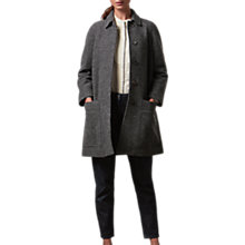 Buy Toast Boiled Wool Coat, Charcoal Online at johnlewis.com