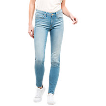 Buy Lee Scarlett Regular Waist Skinny Jeans, 70s Fresh Blue Online at johnlewis.com