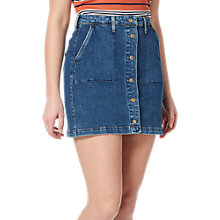 Buy Lee Button Through Denim Skirt, Acid Stone Online at johnlewis.com