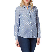 Buy Lee One Pocket Patterned Shirt, Faded Blue Online at johnlewis.com