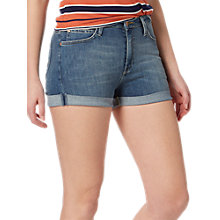 Buy Lee High Rise Denim Shorts, Light Urban Indigo Online at johnlewis.com