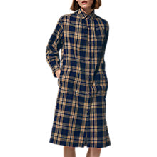 Buy Toast Check Shirt Dress, Indigo/Ecru Online at johnlewis.com