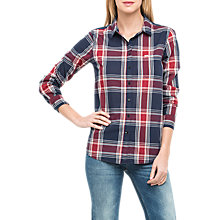 Buy Lee One Pocket Check Shirt, State Blue Online at johnlewis.com