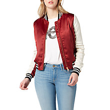 Buy Lee Sateen Bomber Jacket, Biking Red Online at johnlewis.com