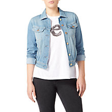 Buy Lee Slim Denim Rider Jacket, 70s Fresh Blue Online at johnlewis.com