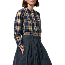 Buy Toast Check Shirt, Indigo/Ecru Online at johnlewis.com