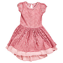 Buy Angel & Rocket Girls' Heart Lace Dress, Pink Online at johnlewis.com