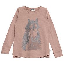 Buy Wheat Girls' Horse Print T-Shirt, Fawn Online at johnlewis.com