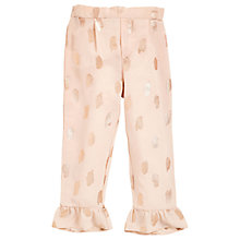 Buy Angel & Rocket Girls' Foil Ruffle Trousers, Gold Online at johnlewis.com