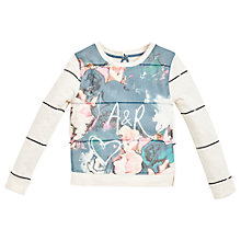Buy Angel & Rocket Girls' Emilie Sequin Stripe Sweatshirt, Multi Online at johnlewis.com