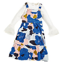 Buy Angel & Rocket Girls' Lily-Mae Printed Pinafore Dress, Multi Online at johnlewis.com