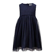 Buy Wheat Girls' Vilna Dress, Navy Online at johnlewis.com