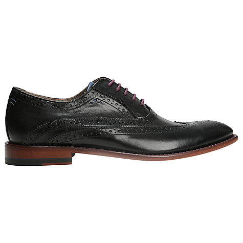 Buy Oliver Sweeney Fellbeck Leather Lace-Up Brogues, Black Online at johnlewis.com
