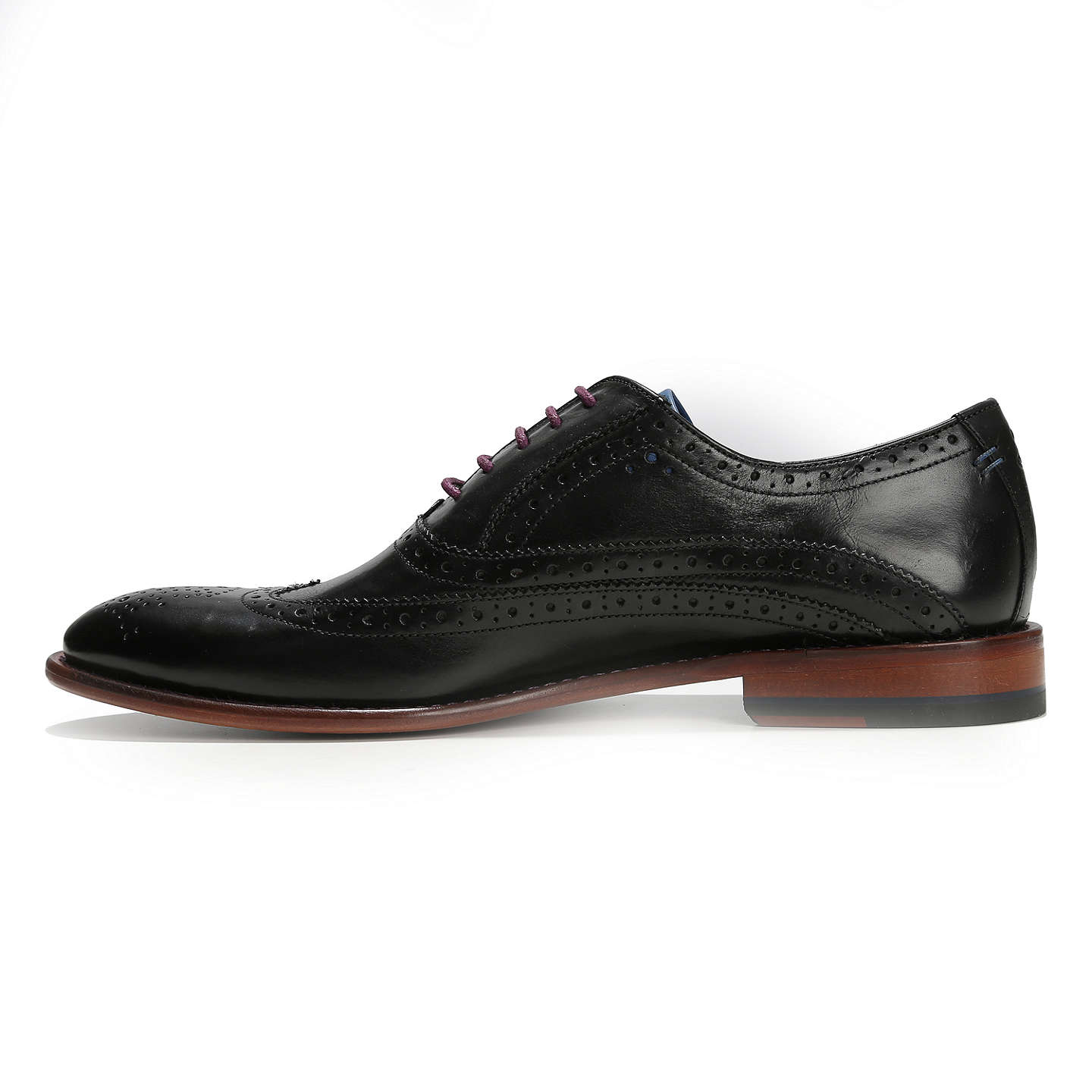 BuyOliver Sweeney Fellbeck Leather Lace-Up Brogues, Black, 7 Online at johnlewis.com
