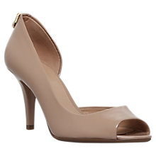 Buy MICHAEL Michael Kors Hamilton Peep Toe Asymmetric Sandals Online at johnlewis.com
