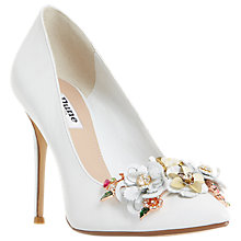 Buy Dune Azalea Flower Garden High Heel Court Shoes, White Online at johnlewis.com
