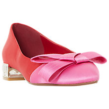 Buy Dune Bowen Block Heeled Bow Pumps, Red Online at johnlewis.com