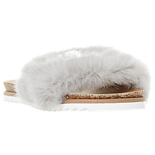 Buy Dune Lyra Faux Fur Slider Sandals Online at johnlewis.com