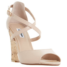 Buy Dune Kasino Cross Strap Wedge Sandals, Nude Online at johnlewis.com