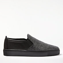 Buy John Lewis Designed for Comfort Yvonne Sparkle Slip On Trainers, Gunmetal Online at johnlewis.com