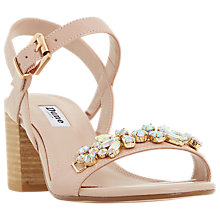 Buy Dune Joone Embellished Block Heeled Sandals Online at johnlewis.com