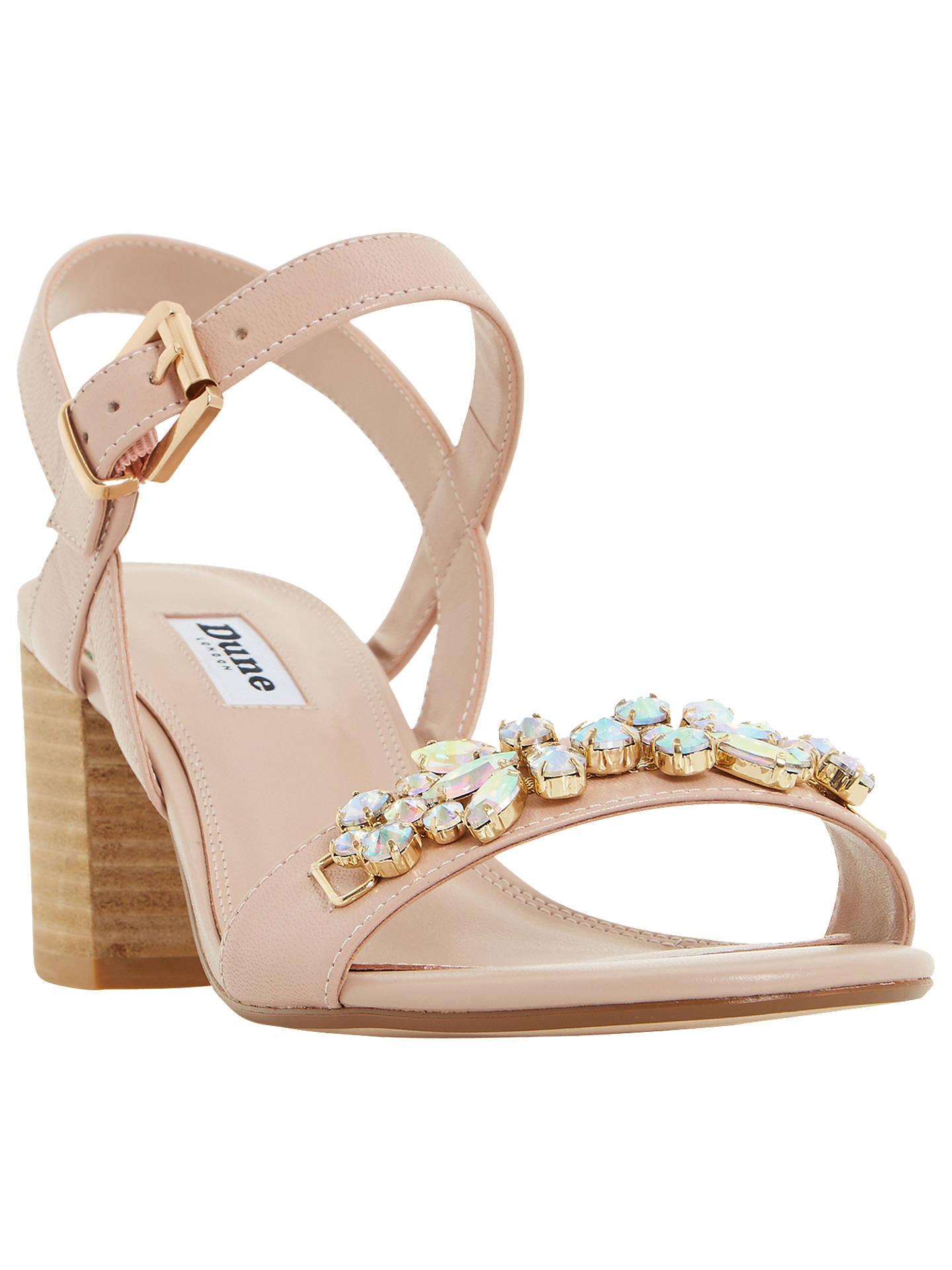 59e874d2c9 Buy Dune Joone Embellished Block Heeled Sandals, Blush, 3 Online at  johnlewis.com ...