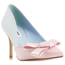 Buy Dune Bowiee Pointed Toe Court Shoes, Blue Online at johnlewis.com