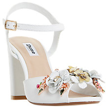 Buy Dune Mackaya Flower Garden Block Heeled Sandals, White Online at johnlewis.com