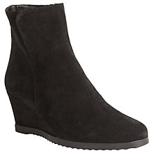 Buy John Lewis Designed for Comfort Pigeon Wedge Heeled Ankle Boots Online at johnlewis.com