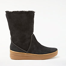 Buy John Lewis Designed for Comfort Raven Calf Boots, Black Suede Online at johnlewis.com