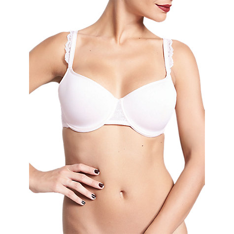 Buy Chantelle Everyday Lace T-Shirt Bra, Soft Pink Online at johnlewis.com