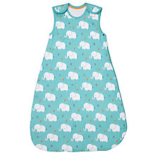 Buy John Lewis Baby Elephant Print Sleep Bag, 2.5 Tog, Blue Online at johnlewis.com