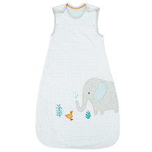 Buy John Lewis Baby Applique Elephant Sleep Bag, 2.5 Tog, Grey Online at johnlewis.com
