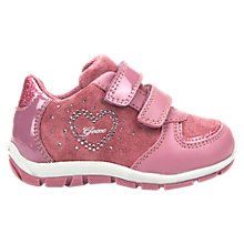 Buy Geox Children's Shaax Love Rip-Tape Casual Shoes, Pink Online at johnlewis.com