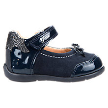 Buy Geox Children's Kaytan Rip-Tape Mary Jane Shoes, Navy Online at johnlewis.com