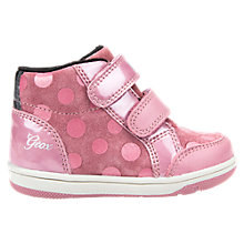 Buy Geox Children's B Flick Double Riptape Shoes, Dark Pink Online at johnlewis.com