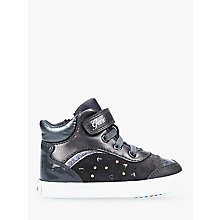 Buy Geox Children's Kilwi Shoes, Charcoal Online at johnlewis.com