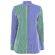 Buy Warehouse Mixed Stripe Shirt, Blue/Multi Online at johnlewis.com