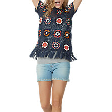 Buy Fat Face Cate Crochet T-Shirt, Multi Online at johnlewis.com